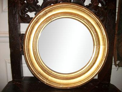 Objets de article for Miroir rond dore